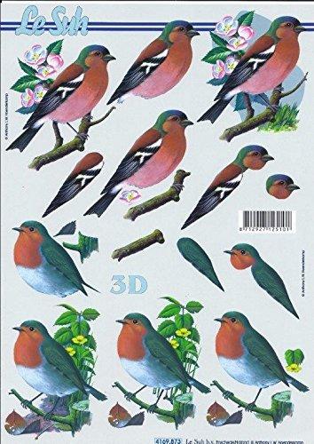 3D Bogen Vögel Vogel Format A4 basteln Scrapbook Stanzbogen Deko GWI 4169.873