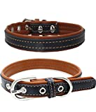 #8: Sunward Baby Boys' Cute Adjustable Leather Dog Puppy Pet Collars Necklace
