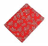 Koala Superstore 2 Stück Leinen Bedruckte Stoffe für Tisch Vorhang Sofa Kleidung, Rote Blumen Muster