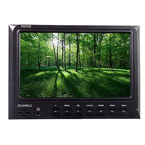 LFTS Feldkamera Feldmonitor 7 Zoll 1024 x 600 P Hochauflösender HD-DSLR-Monitor IPS-Weitwinkelbildschirm HDMI Ypbpr Video Audioeingang Peak-Assist-Fokus Farbabstufung -