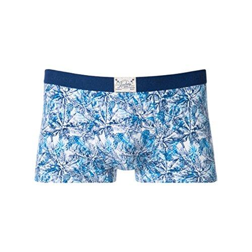 Jockey 3er-Pack-Cotton Stretch Herren Boxer Trunks, Druckt Floral/Ananas In Blau Blau