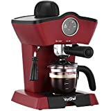 VonShef 4 Bar Espresso Coffee Maker Machine - Make Espressos, Lattes, Cappuccinos & More!