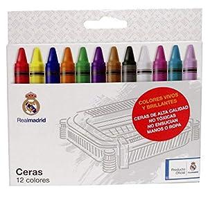 Real Madrid Real Madrid-12 Ceras Lápices de Colores (CYP 1)