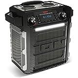 ION Audio Block Rocker Sport - Altavoz 100 W portátil resistente al agua y al polvo con Bluetooth batería recargable, radio AM/FM, puerto para USB y micrófono