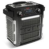 ION  AUDIO Block Rocker Sport Tragbares Bluetooth-Lautsprechersystem mit integriertem Akku, wasserfest/staubresistent, Radio, USB Power Bank und Mikrofon schwarz