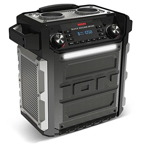 ION Audio Block Rocker Sport Sistema di Altoparlanti Bluetooth, Nero
