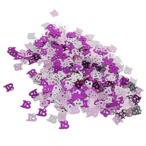 MagiDeal Jahrestag Geburtstag Weihnachten Hochzeit Party Mettalic Confetti Tischdeko Konfetti - Rosa+Silber