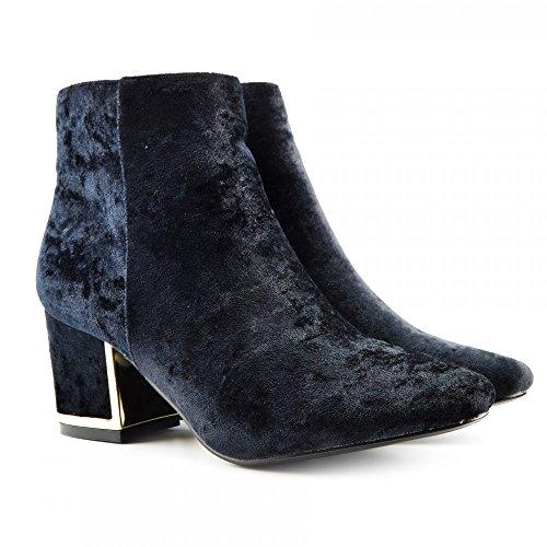 Kick Footwear Chelsea Boots, Stivali donna Black Velvet