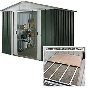 yardmaster 8 x 9 apex metall garten ger tehaus gartenhaus. Black Bedroom Furniture Sets. Home Design Ideas