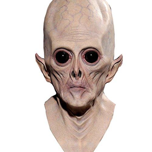 n große Augenalienmaske Kopfbedeckung Maske für Halloween Karneval Mottopartys Cosplay Requisiten (Halloween Maske Ausdrucken)