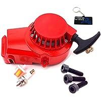STONEDER Filtro de Combustible de Aluminio Rojo para Arranque de Combustible de 2 Tiempos 47 CC