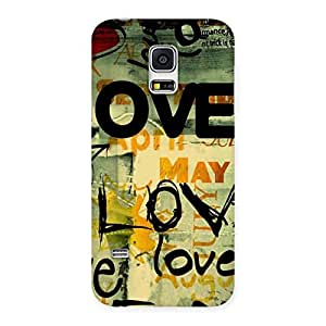 Love Typo Multicolor Back Case Cover for Galaxy S5 Mini