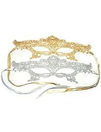 PRESKIN - Ensemble de 2 masques de dentelle pour le carnaval, la séduction vénitienne pour le carnaval, masques sexy pour le déguisement et le Parti, fifty shades of grey