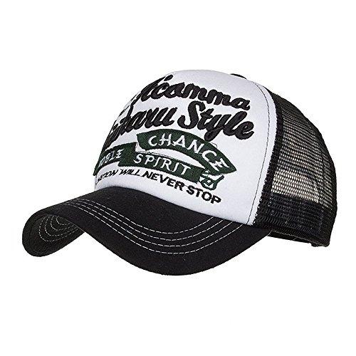 Topgrowth Cappellino Estivo Ricamato Cappelli Rete per Uomo Donna Traspirante Cappello Casuali Hip Hop Hat da Baseball