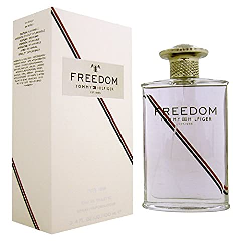 Tommy Hilfiger Freedom Men EDT Spray 100ml, 1er Pack (1 x 100 ml) (Weiß Ingwer Parfüm)