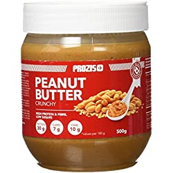 Prozis Peanut Butter 500g - Deliciosa y de Textura Cremosa - Fuente Natural de Proteína - Apta para Dietas Veganas, Kosher y Halal - Sin Sal Añadida y Sin Grasas Trans