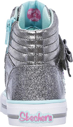 Skechers Kids Twinkle Toes Heart and Sole Light Up Sneaker (Little Kid/Big Kid/Toddler) Gunmetal/Turquoise
