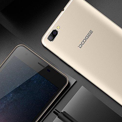 Smartphone Baratos  DOOGEE X20 Dual SIM Moviles Libres Barato  3G Android 7 0 Telefonos  5 Pulgadas HD IPS Display y MT6580 Quad Core Movil  1GB RAM