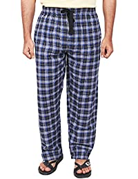 Twist Men's Black And Blue Checked 100% Cotton Pyjama Sleepwear Night Wear With Contrast & Free Shipping