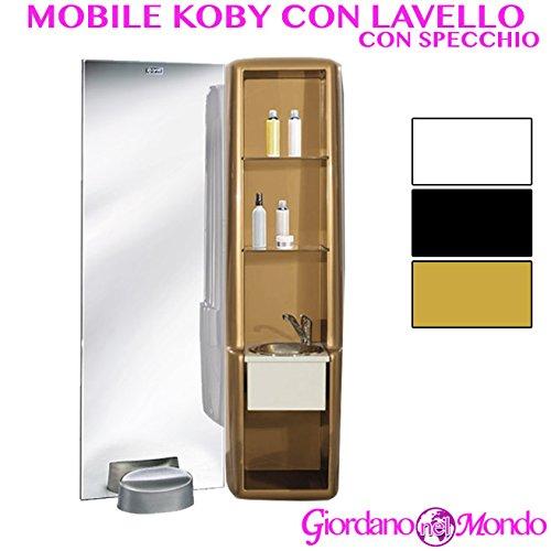 Specchio con mobile e lavello laterale salone parrucchiere koby mirror ceriotti arredamento negozio