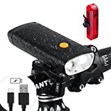 Bike Light Set, 1000 lumen Cree L2 Double LED Bike Headlight with USB