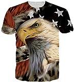 Goodstoworld 3D Eagle Print T Shirt Herren Damen Sommer Lustige Beiläufige Kurzarm Aufdruck T-Shirts Tee Top XXL