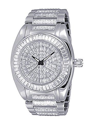 Adee Kaye Men's Quartz Brass Dress Watch, Color:Silver-Toned (Model: AK6175-M)
