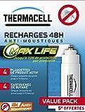 Thermacell Recharge 48H Plaquettes Max Anti-Moustiques Portable Nomade & Lanterne Dont 5H OFFERTES, Multicolore, 135x103x55 cm