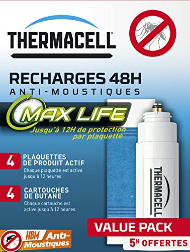 MoustiqueSolutions Recharge 48 h Plaquettes pour Portable Nomade/Lanterne Thermacell MAX Multicolore 13,5 x 10,3 x 55 cm 002-RE-RGZ005