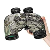 BNISE 10x50 Binoculars for Adults Birdwatching Hunting, Built-In Compass and Rangefinder With Harness