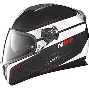 Nolan N86 RAPID N-COM Caque intégral Taille M Noir/blanc mat