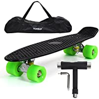 "Yorbay 22"" Retro Skateboard Mini Cruiser Board Komplett Fertig Montiert"