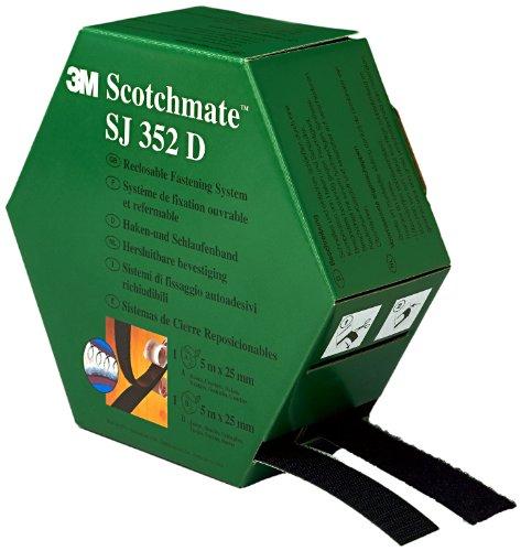Preisvergleich Produktbild 3M SJ352D Scotchmate Haken- und Schlaufenband,  in einer Spendebox,  schwarz,  2 x 5 m,  1er Pack