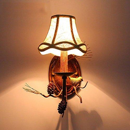Jiaa Home Decor Produkte mit Modernen und Stilvollen Aussehen Design American Style ländlichen ländlichen Wand Lampenfassung Universalgebrauch Home Bedside Lampen Villa Hotel Gang Zweige Vögel Wandle - Serviettenhalter Vögel