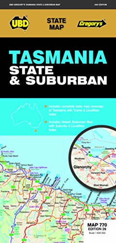 Tasmania State & Suburban  1 : 625 000 (State Map) (Map-tasmanien)
