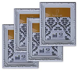 SHABBY CHIC Picture Photo Frames [Set of 4] WHITE