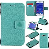 KKEIKO Galaxy Core Prime Case, Galaxy Core Prime Flip Leather Case [with Free