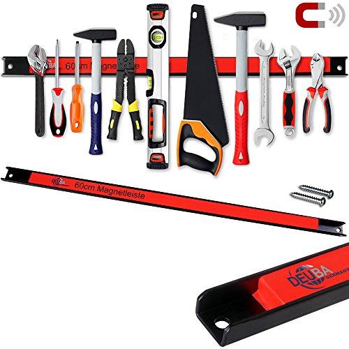 Deuba 2x Magnetleiste 60cm | 23kg Tragkraft | Montagematerial Werkzeugleiste Messerleiste Werkzeughalter Werkstatt