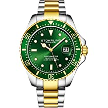 Stuhrling - Reloj de Buceo para Hombre, diseño de Buceo Deportivo con Corona de Rosca