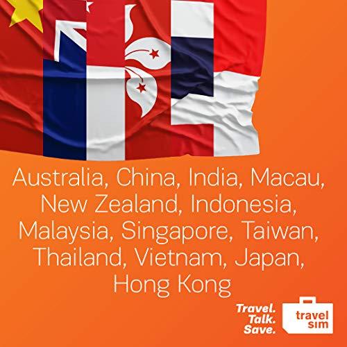 Prepaid TravelSIM Welt: Asia - 3GB für Australia, China, India, Macau, New  Zealand, Indonesia, Malaysia, Singapore, Taiwan, Thailand, Vietnam, Japan,