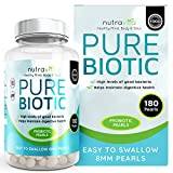Probiotics Triple Strength 2 Billion CFU - 180 Time Release High Strength Probiotic Pearls - More Effective than Probiotic Capsule Form - Made in the UK