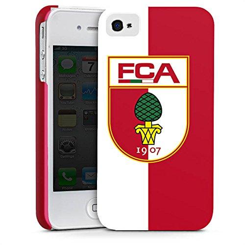 Apple iPhone X Silikon Hülle Case Schutzhülle FC Augsburg Fanartikel Fussball Premium Case glänzend