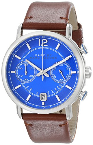 Marc by Marc Jacobs MBM5066 Men's Fergus Chrono Blue Dial Brown Leather Strap Watch