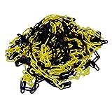 Absperrkette aus Kunststoff gelb schwarz beschichtet 25 m Länge - Stärke: 6 mm