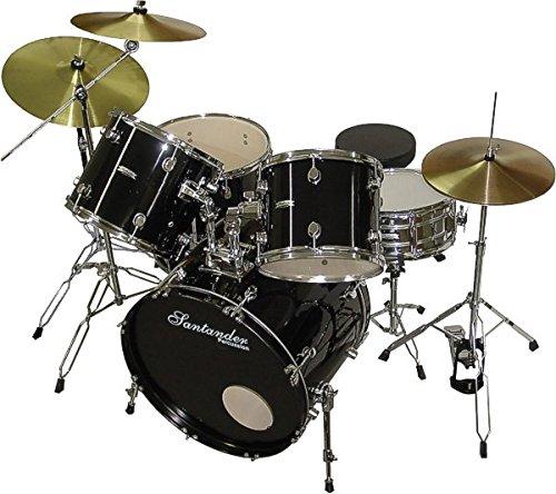 santander-de-9-pieces-pour-batterie-support-cymbales-tabouret-noir