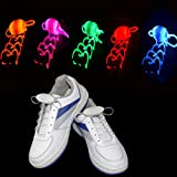 LED Schnürsenkel 5 Paar Glowing Flash LED Blinklicht Leuchtende...