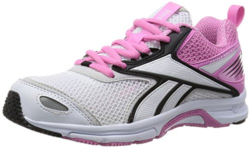 Reebok  Triplehall 5.0, Baskets pour femme noir Blanc / Noir / Rose / Argenté (White / Black / Icono Pink / Steel / Silver)
