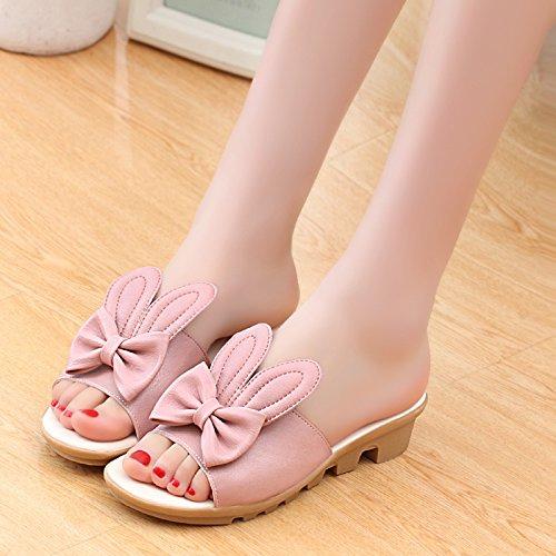 ZYUSHIZ Weibliche Sandalen die Philippinen mit schönen Das Dekor Sandalen 39EU