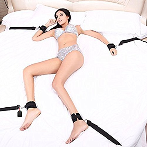 DulexoBDSM Sex Bondage mit Seile Handschellen Fußfesseln Bett Sets (1)