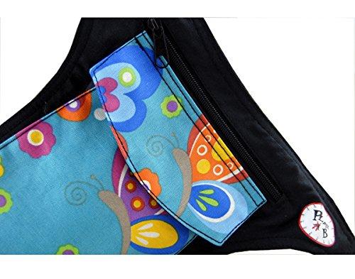 RIÑONERA Plan B Mod. Básica MARIPOSA – Bolso de cintura, cabe botella agua pequeña, smartphone, perfecta para vacaciones , escalada, senderismo, deportes al aire libre, bolsa para pasear perros/ RN MP